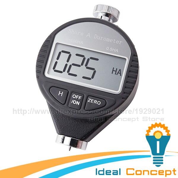 Digital Shore A Durometer Rubber Hardness Tester Plastic Leather Elastomer 0~100HA Scale  цены