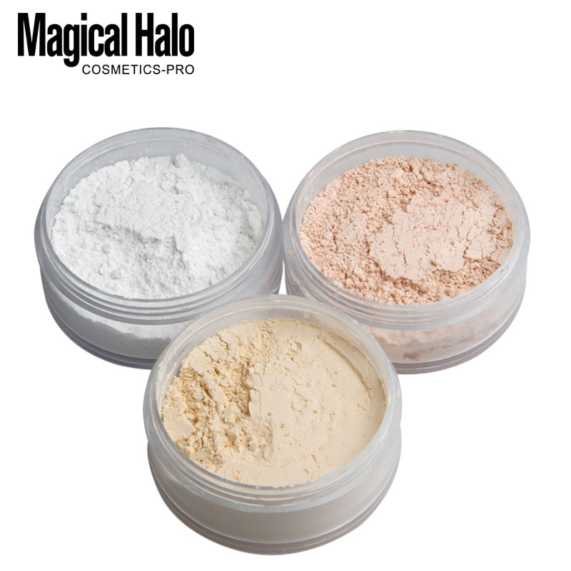 3 Colors Smooth Loose Powder Makeup Transparent Finishing Powder Waterproof Cosmetic Puff For Face Finish Setting With Puff