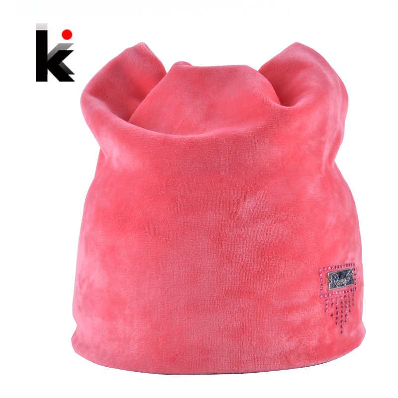 f6c3409a0ec 2018 Winter Beanie Hat Ladies Cat Girls Hats For Women Beanies Fluff Caps  Russia Skullies Touca