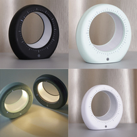 MagiDeal LED Luna Moon Clock Lamp Night Light Touch Control USB Charge