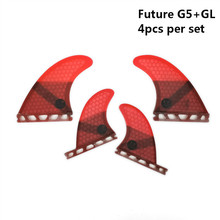 Future G5+GL fins Quad-Fins Honeycomb Fiberglass surfboard fin 4 in per set Red color helena rubinstein barynia парфюм 7 5 мл