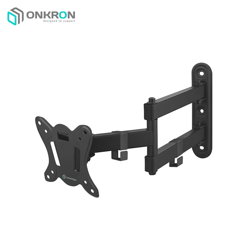 Obliquely-swivel bracket ONKRON BASIC R4 Black inclined swivel bracket mart 107s