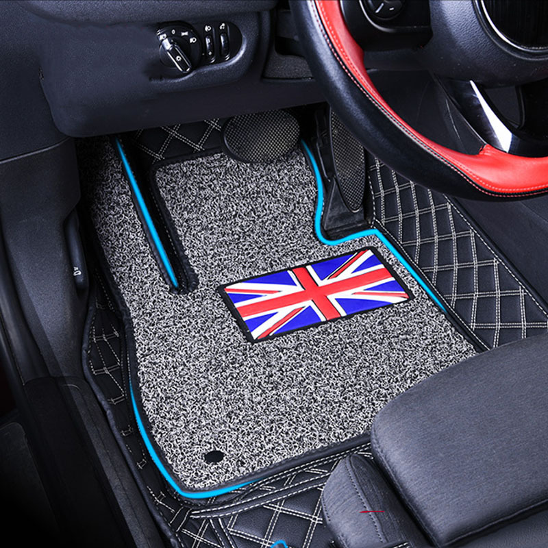 1 Set Car Floor Mats Pad Front Rear Liner Mat Double Layer
