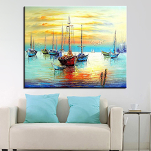 Sky  Landscape Sea And Ship DIY Digital Painting By Numbers Acrylic Hand Paint Drawing Home Decorative Wall Picture Artwork diana balmori drawing and reinventing landscape