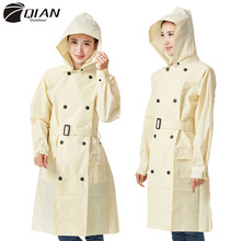 Raincoat Women Impermeable QIAN Poncho Hooded Waterproof EVA Long Windbreaker Detachable