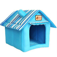 Top Quality Dog Kennel Pet House for Dogs Luxury Brand Senior Striped Nest Animal Fashion Cute Tent Bed Pet Rooms