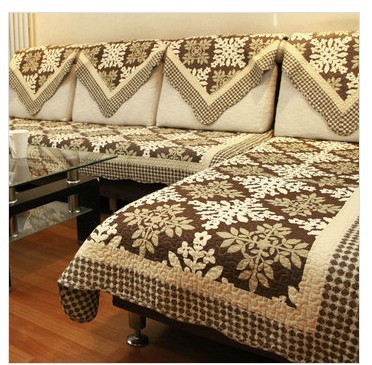 New 2017 Sofa Cover Set Leaves Romatic Countryside Design 100 Cotton Surface Polyester