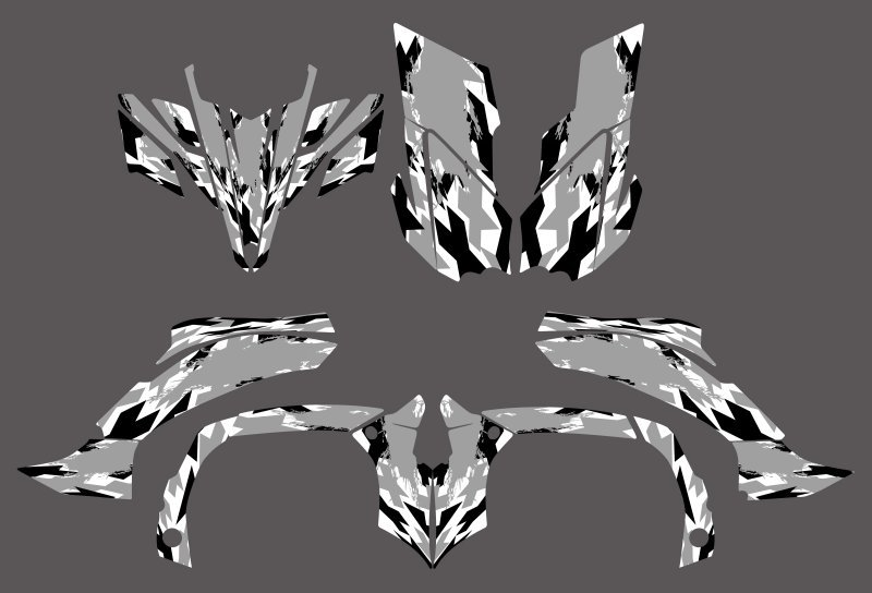 0342   New Style DECALS STICKERS Graphics Kits For Yamaha YFZ450R 2009 2010 2011 2012 ATV YFZ 450R YZF450 R