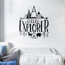 little explorer vinyl wall decal Stickers decoration For Kids Rooms Quotes Home Decor Nursery Woodland Adventure Art Decor ZW108 pirate ship and treasure map decal set wall decal custom vinyl art stickers for classrooms kids rooms baby nurseries 3004