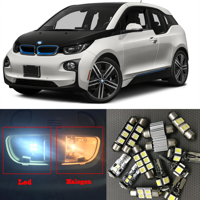 13pcs White Error Free Car LED Light Bulbs Interior Kit Canbus For 2014 2015 BMW I3