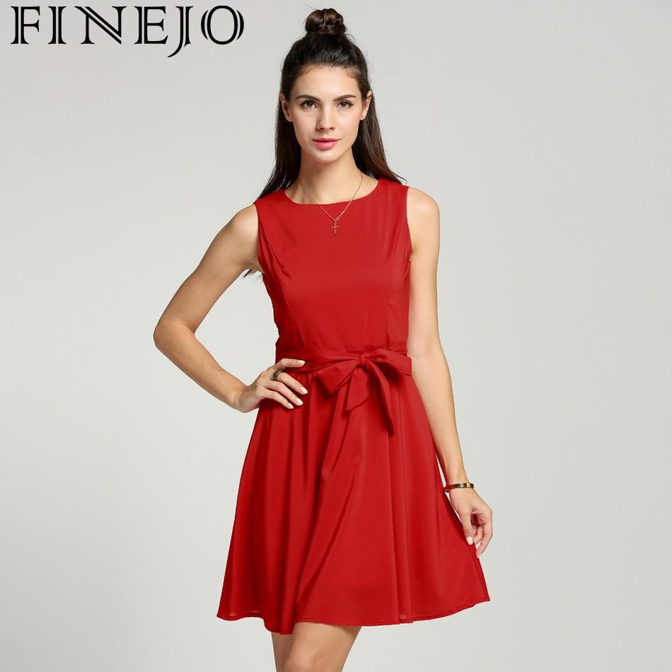 FINEJO <font><b>Casual</b></font> <font><b>Striped</b></font> <font><b>Beach</b></font> <font><b>Dress</b></font> <font><b>Women</b></font> <font><b>Sexy</b></font> <font><b>Sleeveless</b></font> Spaghetti Strap Midi A Line Summer Party <font><b>Dress</b></font> 2018 Sundress Vestidos image