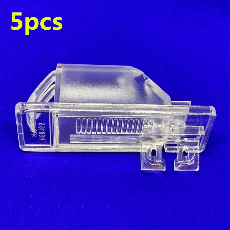5pcs Car Rear View Camera Bracket Plate Light Mount For Nissan Patrol Bluebird X-Trail Dualis Sentra Pulsar Qashqai Almera Sunny