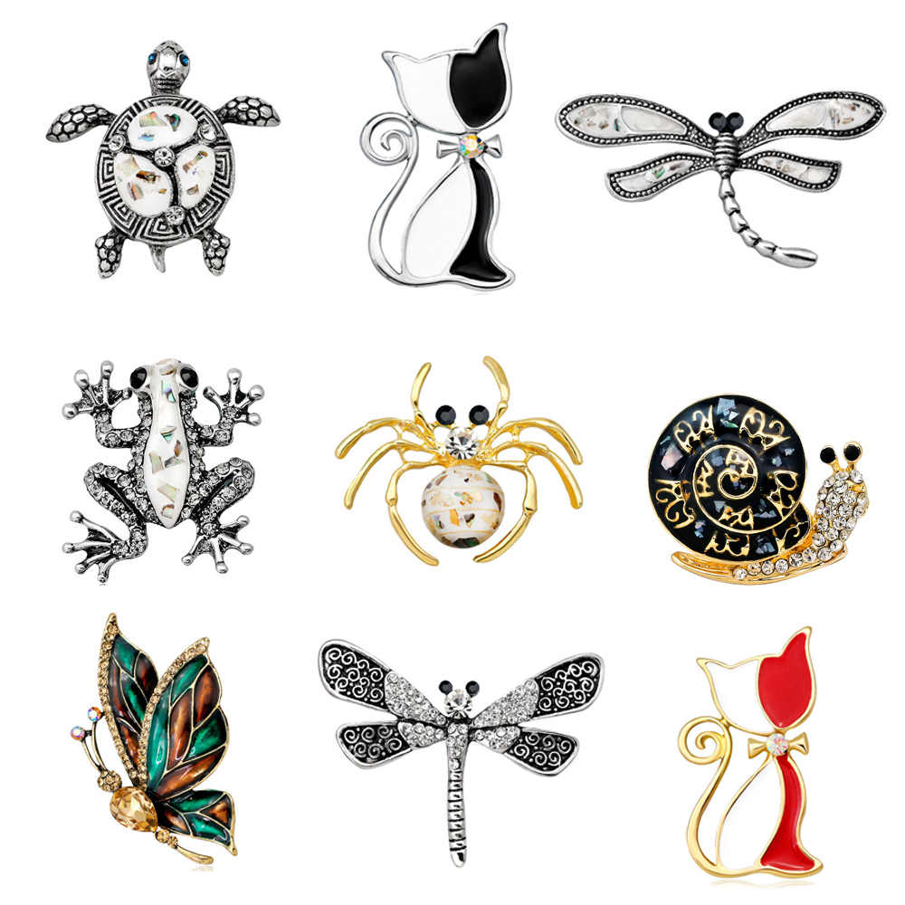 23aa942e5be Detail Feedback Questions about Vintage Simulated Pearl Brooches Animal Pins  Crystal Cat Frog Bee Moon Dragonfly Butterfly Corsage Antique Pin Costume  ...