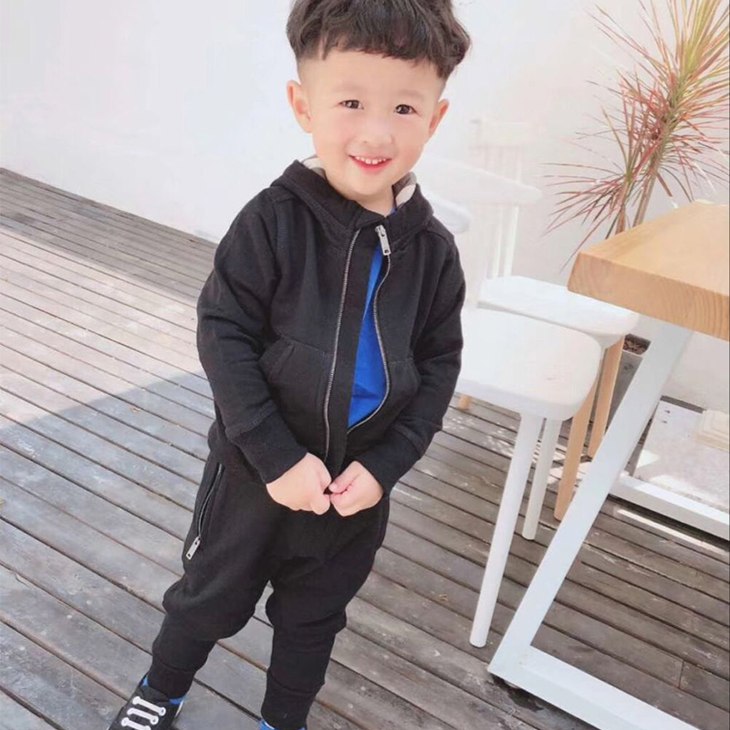 Children Clothing Sets Boys Girls Tracksuits Kids Brand Sport Suits Kids Zipper Jacket hooded+pants 2pcs Set in early September in stock 2018 baby clothes sets children boys girls tracksuits kids spring autumn sport suits zipper jacket pants