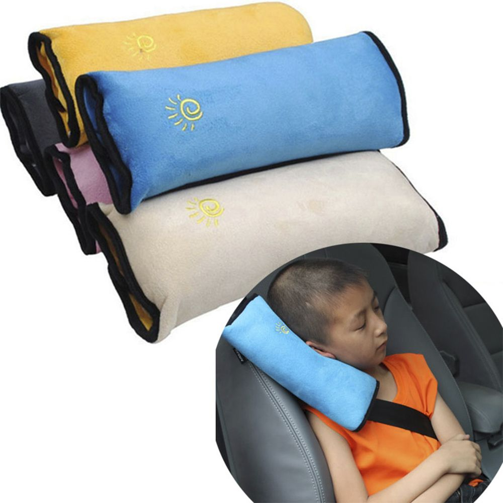 Children Safety Strap Auto Car Soft Comfortable Headrest Vehicle Seat Belts Cover Cushion Shoulder Harness Pillow Baby Care