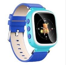 2016 Kid GPS elegante reloj de pulsera llamada SOS dispositivo de localización Tracker para Kid Safe Monitor anti-perdida del regalo del bebé Q80 PK Q50 Q60
