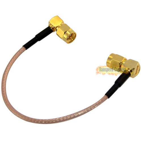 RP-SMA Angled 90 Degree male To RP SMA male Jack Straight RG316 Cable 15cm M/M