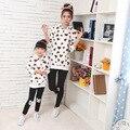 Na venda olhar família clothing primavera 2017 amor outono casaco mãe e filha combinando roupas mãe roupas de menina camisola