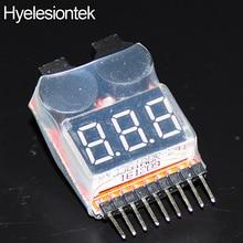 1-8S Lipo Battery Speaker DIY Kit Display Red Alert 2 in 1 Li-ion Indicator Monitor Detector Tester Low Voltage BB Buzzer Alarm