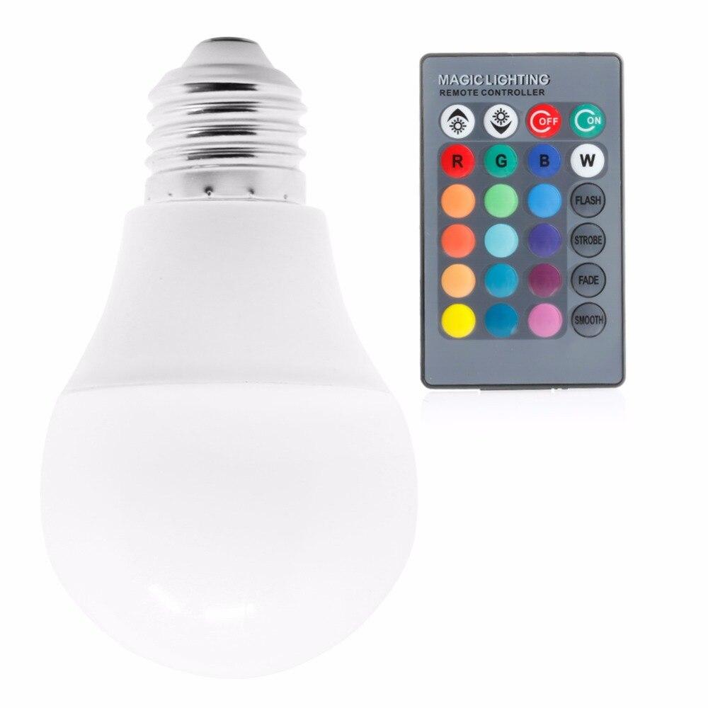 HNGCHOIGE 85-265V 10w / 15w E27 RGB light LED bulb color change + Remote Control