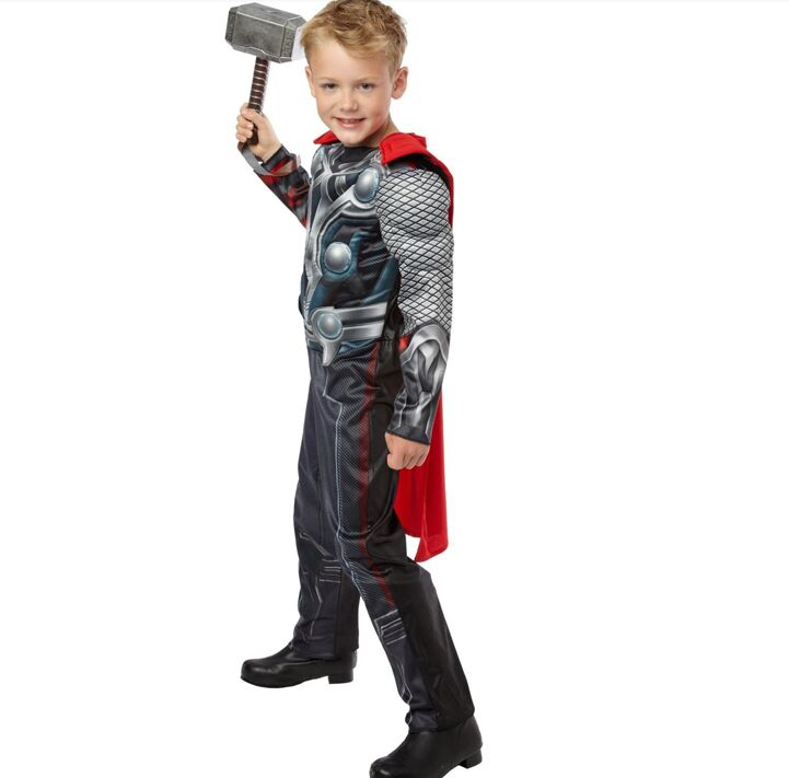 2019 New Rushed The Avengers Thor Classic Muscle Cosplay Child Boys Halloween Carnival Costumes Kids Fantasia Fancy Dress