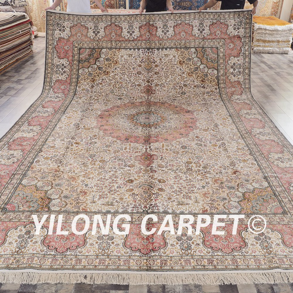 Antique Turkish Silk Rug: Yilong 10'x14' Vantage Turkish Silk Rug Large Antique Hand