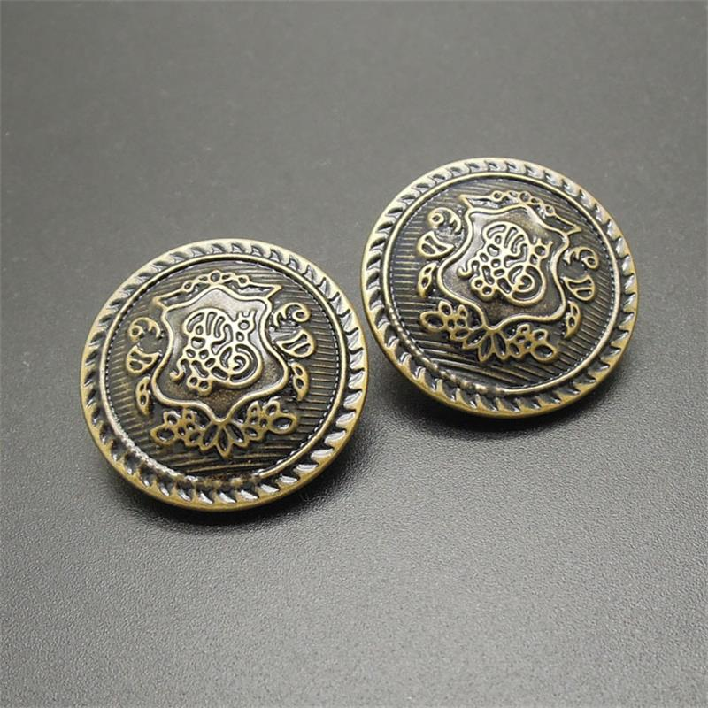 Arts,crafts & Sewing 50pcs Relief Double Lion Metal Buttons Sewing Jean Metal Buttons For Ladies Sweater Fashion Coat Buttons For Jeans Home & Garden