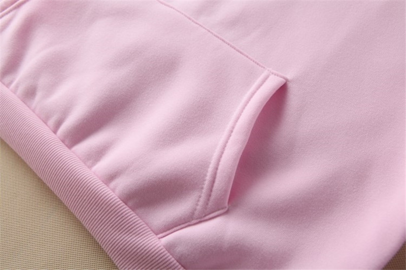 Hooded Tops Women's Sweatshirt Long-Sleeved Winter Velvet Thickening Coat 59