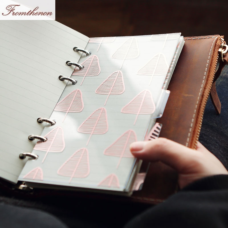 Foil Rose Gold Kawaii Spiral Notebook Divider Cute A5A6  Planner Index Pages Accessories For Dokibook Notebook School Stationery