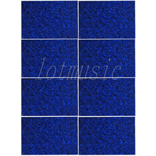 Pickguard Material-8PCS Guitar Bass Body Project Blue Pearloid 3ply