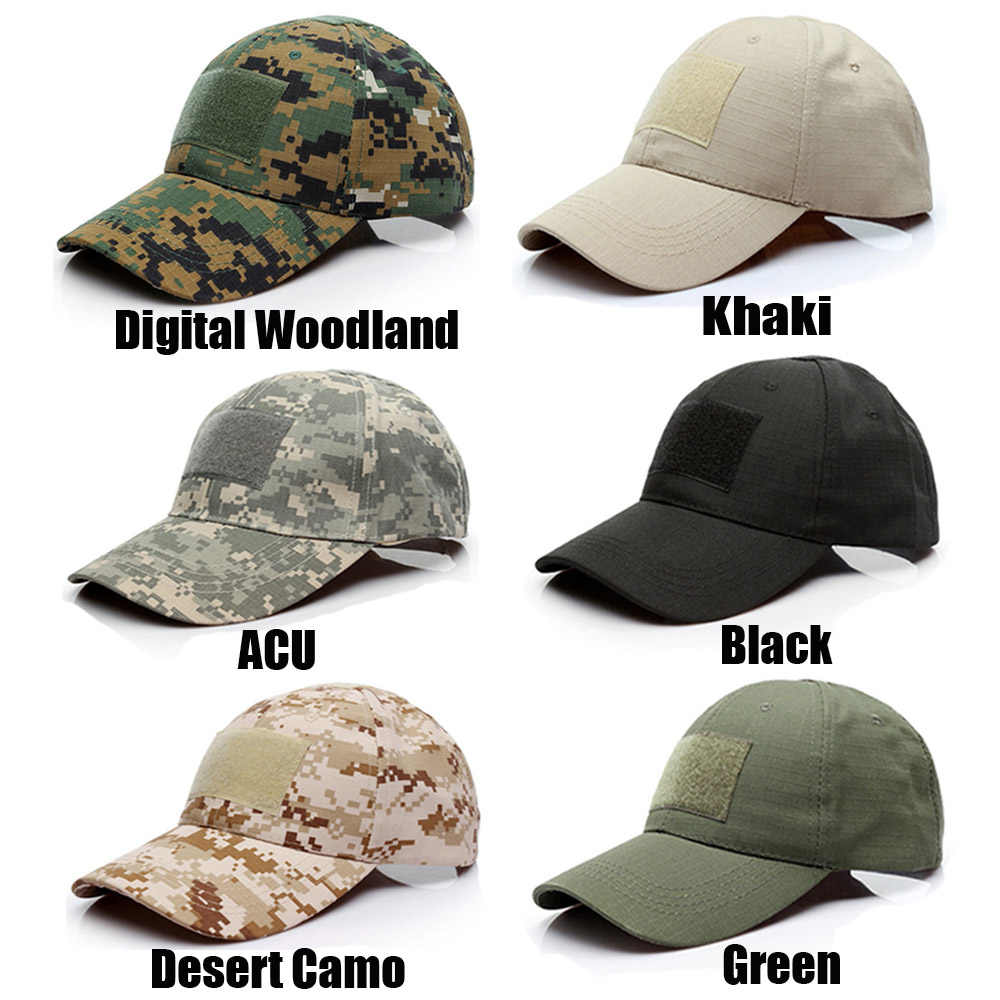 Tactical Cap Camouflage Hat Outdoor Baseball Cap Military Army Camo Hunting Cap Airsoft for Outdoor Hunting Fishing Hiking Hats