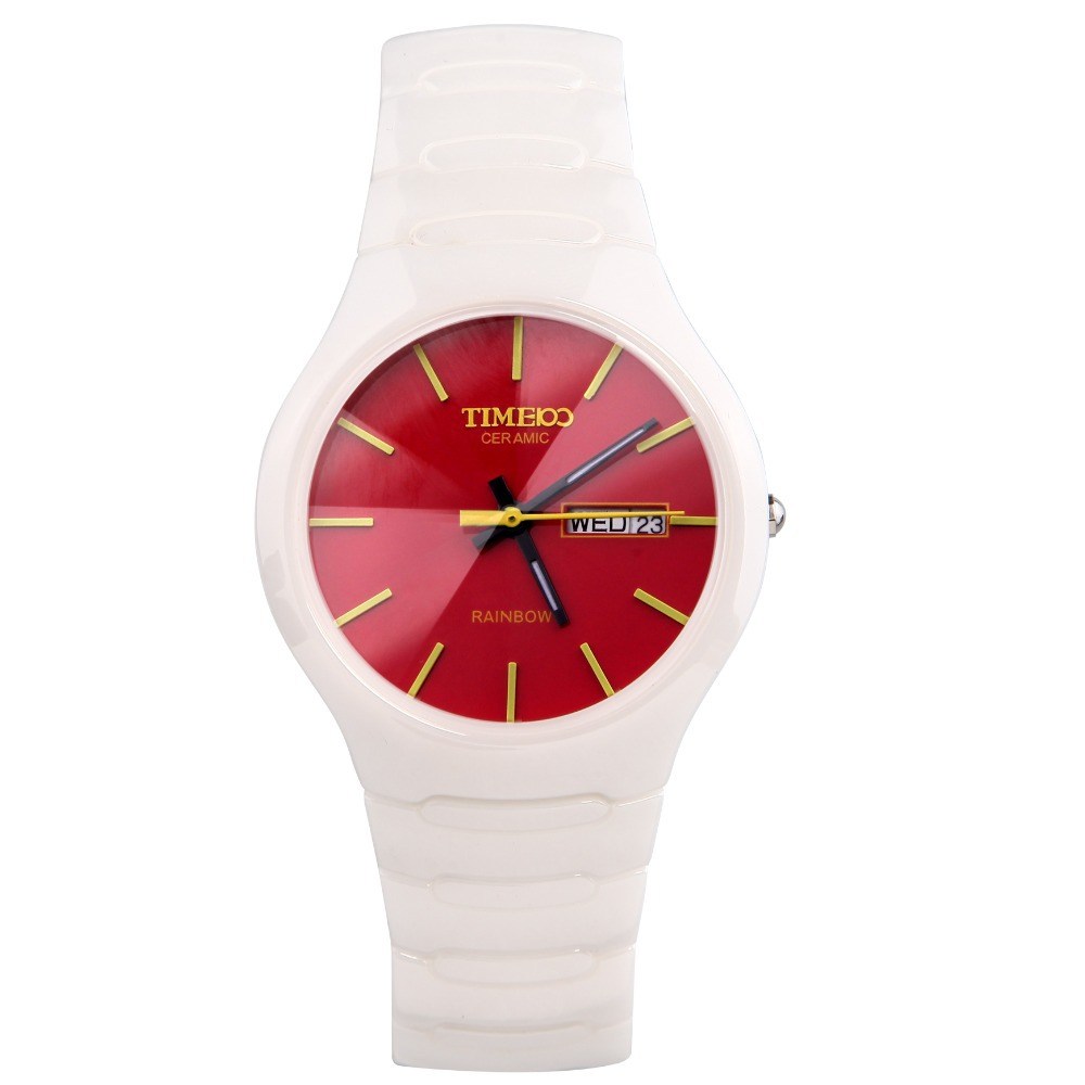 TIME100 Women Analog Diaplay Quartz Watch Sapphire Mirror Ceramic Strap Calendar Ultrathin Dial Ladies Cause Wrist Watch Clock 4 time100 w40109m