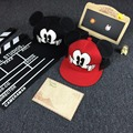 2016 New Cartoon Cute Mickey Minnie Boys Girls Baseball Cap Big Ear Mouse Snapback Hats Hip-Hop Cap Bone Gorra Mesh Hats HT-201