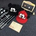 2016 Nova Bonito Dos Desenhos Animados Mickey Minnie Meninos Meninas Boné De Beisebol Grande orelha de rato snapback chapéus hop cap óssea gorra chapéus malha ht-201