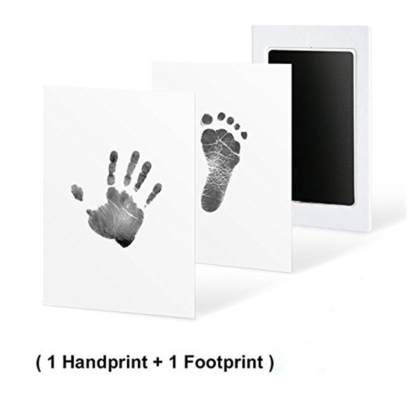 Newborn Handprint Footprint Photo Frame Kit Non-Toxic Clean Touch Ink Pad For Baby Gift