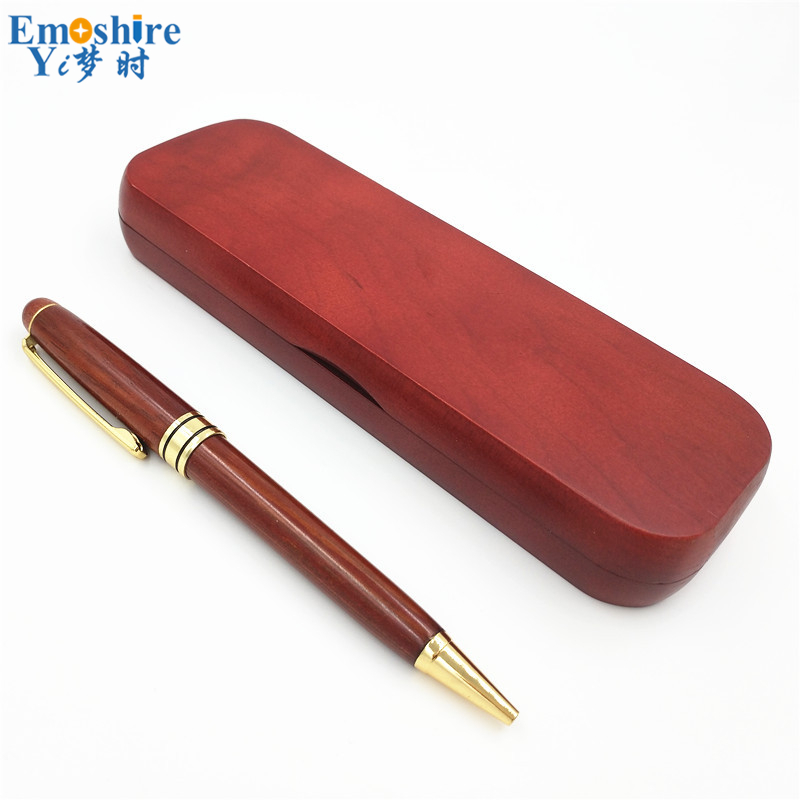 Emoshire Free Shipping Branding Ball Pens Vintage Wooden Ballpoint Pen Customized Student Office School Gift Can OEM Logo P121 emoshire limited edition special gift pen for man business office writing golden roller ball pen luxury ballpoint pens p343