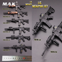 About 14cm 1/6 Scale Action Figure Weapon Accessories HK416 & M4 Series Gun Model Toys 8 Styles for 12 inches Action Figure