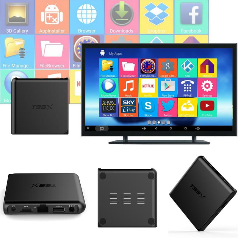 T95X Android 6.0 TV BOX TV Set-top Box s905x HD Digital Terrestrial Receiver network player Compatible with DVB-T For V HDTV dvb t isdb digital tv box for our car dvd player