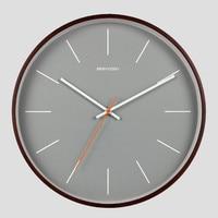 Geekcook Wall Clock Modern Design With Glass Wooden Metal Quartz Wall Clocks modern simple wall clocks home decor living Room