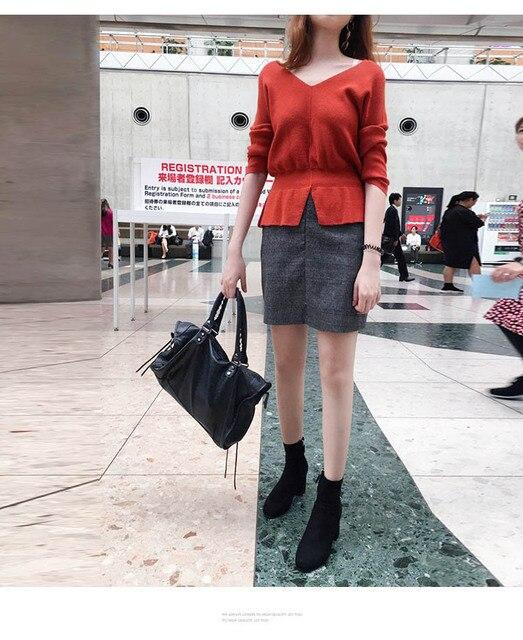 Sexy Korean Fashion Women Long Sleeve V Neck Bodycon Party