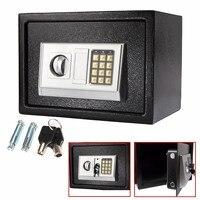 Черный Сталь цифровой электронный кодовый замок дома Сейф для офиса + переопределить ключ