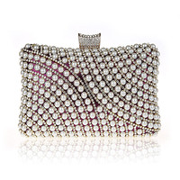 2016 New Vintage Beaded Evening Bag Embroidered Bag Diamond Sequined Clutch Hand Bag Bride Bag Free