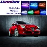 LiandLee Car Glow Interior Floor Decorative Atmosphere Seats Accent Ambient Neon light For Alfa Romeo MiTo AR Furiosa 2007~Onwor