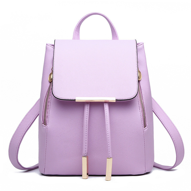 2017 Newest Style Women s Bags Classic Leisure Sweet Girl Fashion Travel Backpacks Candy Color Lavender
