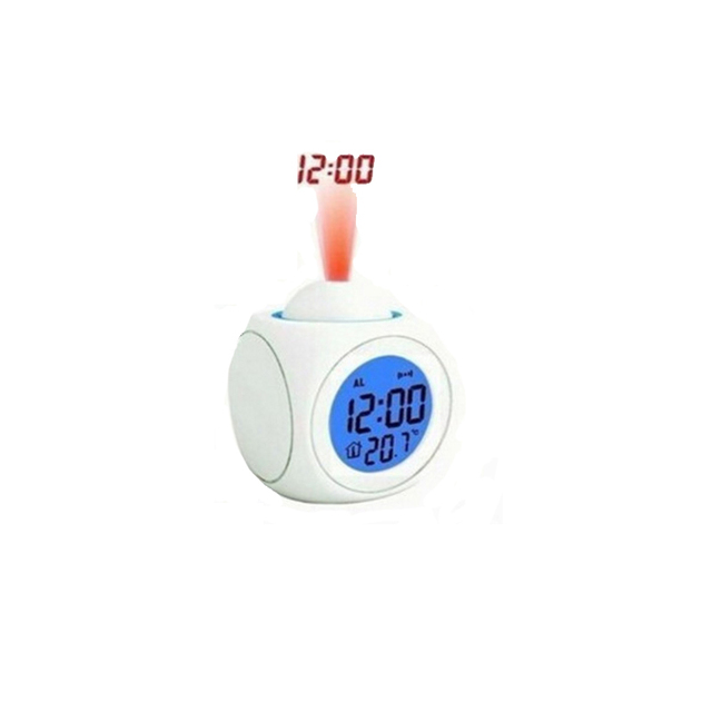 2017new LCD Projection Voice Talking alarm clock backlight Electronic Digital Projector Watch desk Temperature display WITFAMILY 5