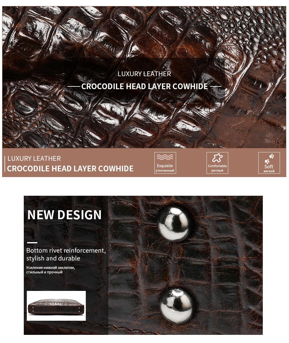 HTB1mAnTe21H3KVjSZFHq6zKppXak WESTAL Men Briefcase Men's Bag Genuine Leather Office Bags for Men Laptop Bag Leather Briefcase Men Croco Design Computer Bags