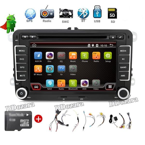 imágenes para Reproductor Multimedia del coche de 7 pulgadas 2 din GPS Radio Stereo GPS VW passat B6 B7/CC Tiguan Radio doulde din android 6.0 dvd del coche jugador