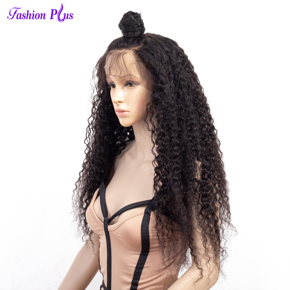 Full Lace Human Hair Wigs Curly Wigs For Black Women 150% Density Remy Brazilian Human Hair 10-26 Full Lace Wigs  With Baby Hair