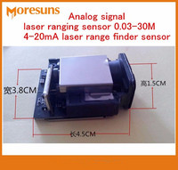 Free Ship Analog signal laser ranging sensor 0.03 30M accuracy + 1mm max frequency 20HZ 4 20mA Laser ranging module