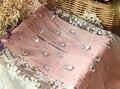 Princesa doce meia-calça lolita HARAJUKU amo Macio super Luxo strass brilhante gancho de arame malha Bling bling mulher Meia-calça